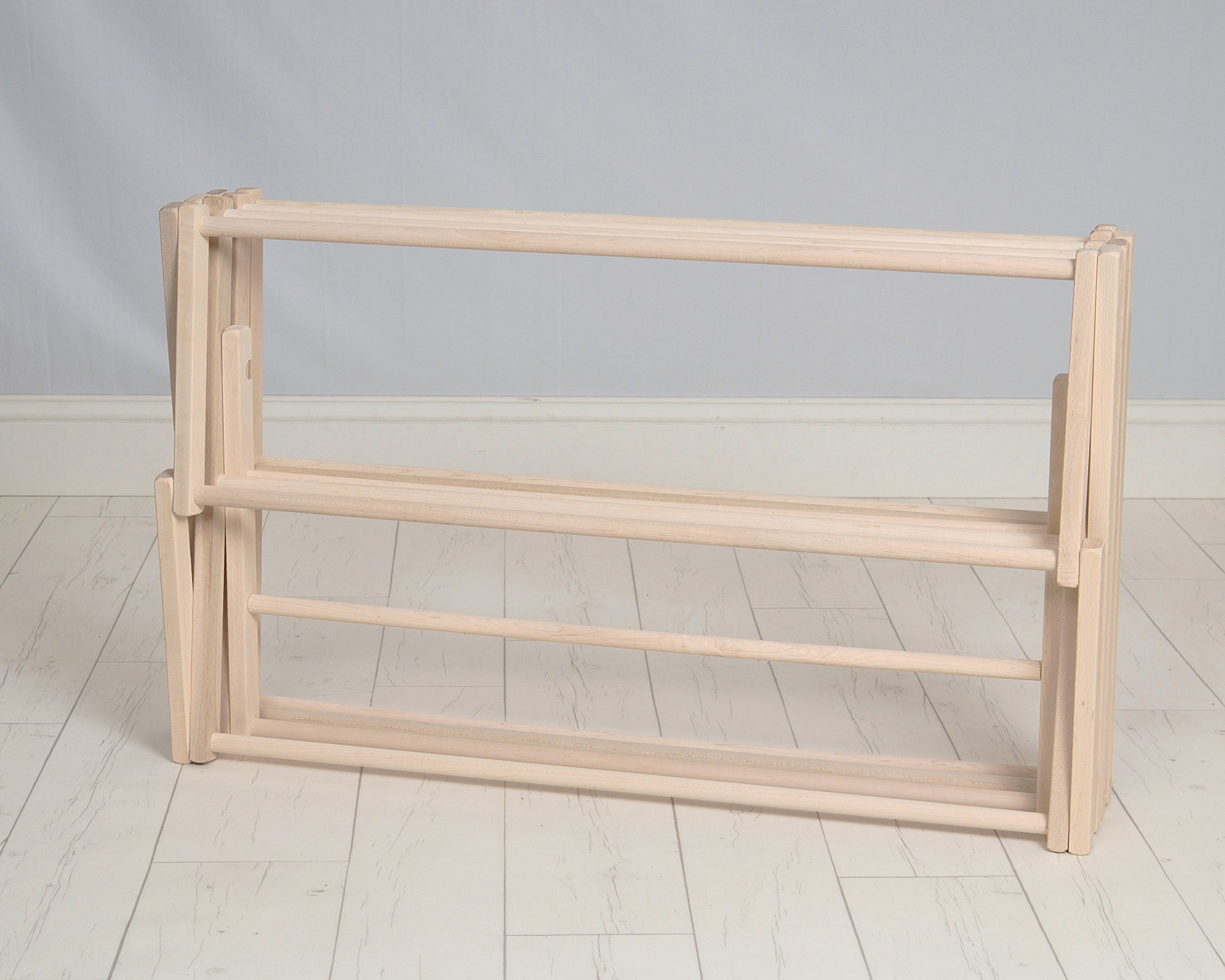 Pennsylvania Woodworks Clothes Drying Rack (Made in the USA) Heavy Duty 100% Hardwood (Large) by Pennsylvania Woodworks (Image #5)