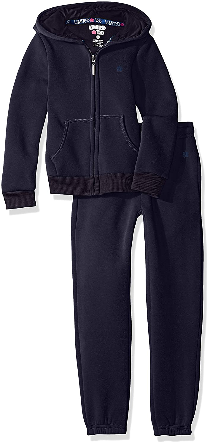 Limited Too Girls' Fleece Hoodie Jacket and Pant Jog Set 2324
