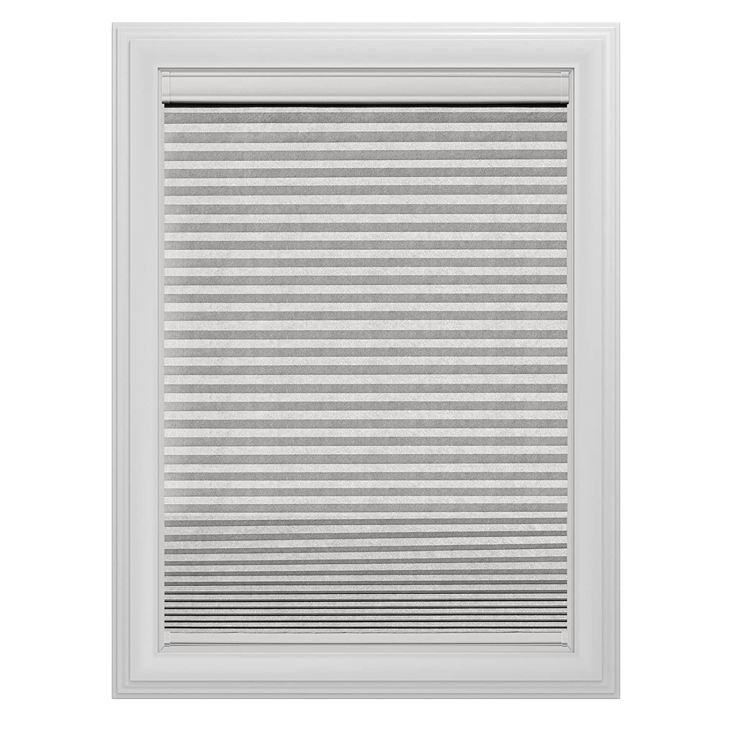 Bali Blinds Bali Essentials Cut-to-Measure Blackout 3/8 Single Cell Cellular Cordless Shade, 29 x 72, White Dove 29 x 72 Springs Window Fashions BTSSL