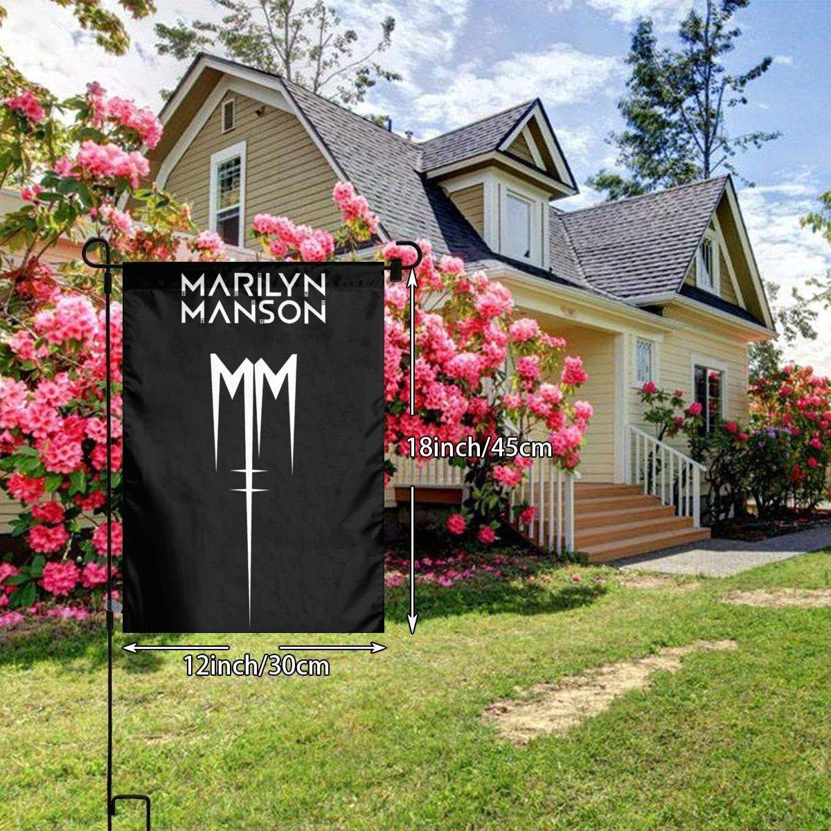 Amazon Com David E Everett Marilyn Manson Garden Flag 12x18