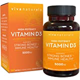 Vitamin D3 5000 IU, 360 Softgels - High Potency Vitamin D Made with Organic Coconut Oil, Vitamin D for Healthy Immune…