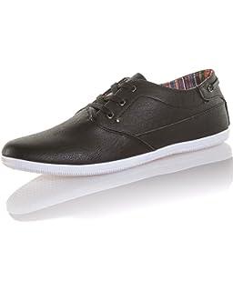 Reservoir Shoes - Chaussure Bateau Homme Effet Cuir Navy  Amazon.fr ... a1be33e1ef5d