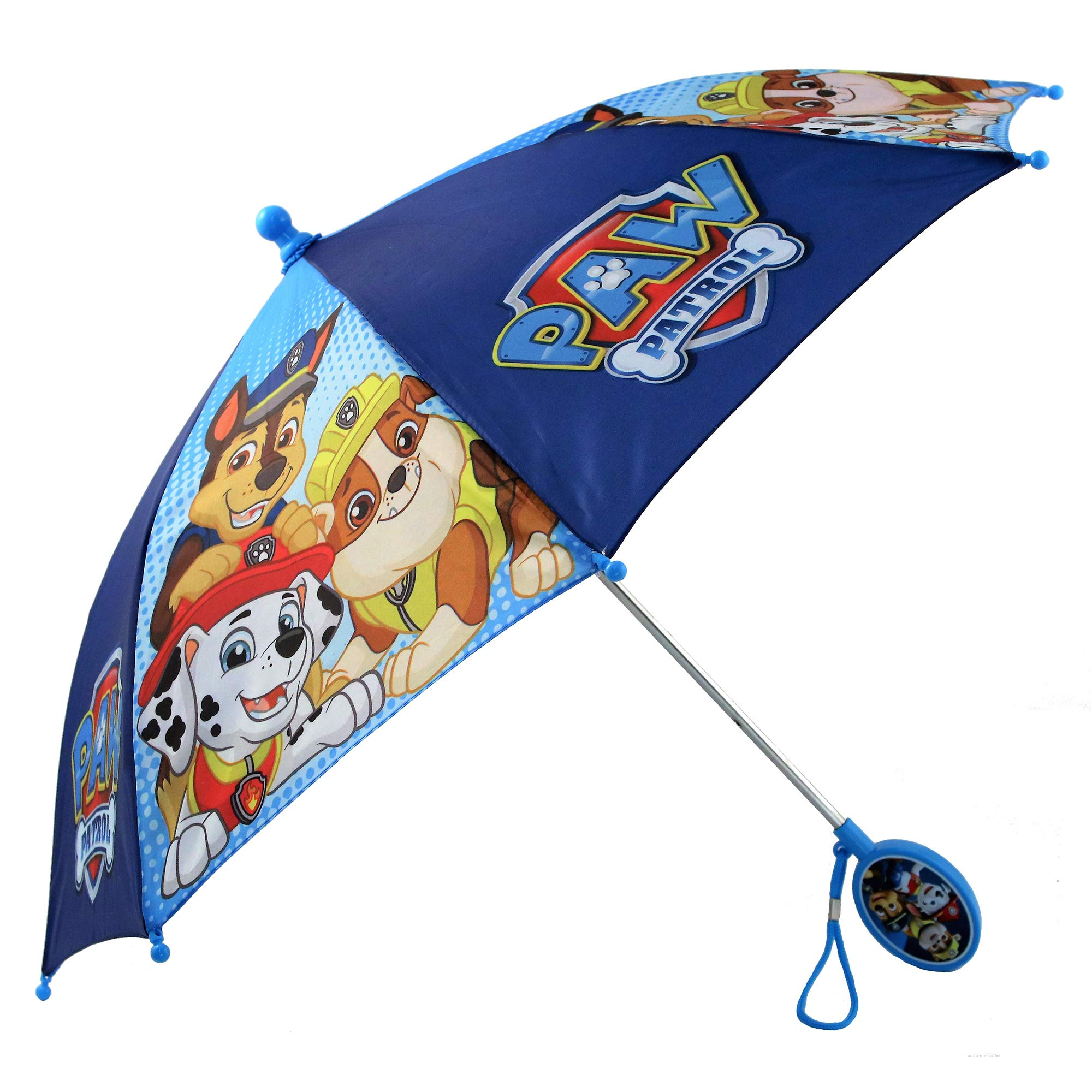 Nickelodeon Little Boys Paw Patrol Character Rainwear Umbrella, Dark Blue,  Ages 3-7