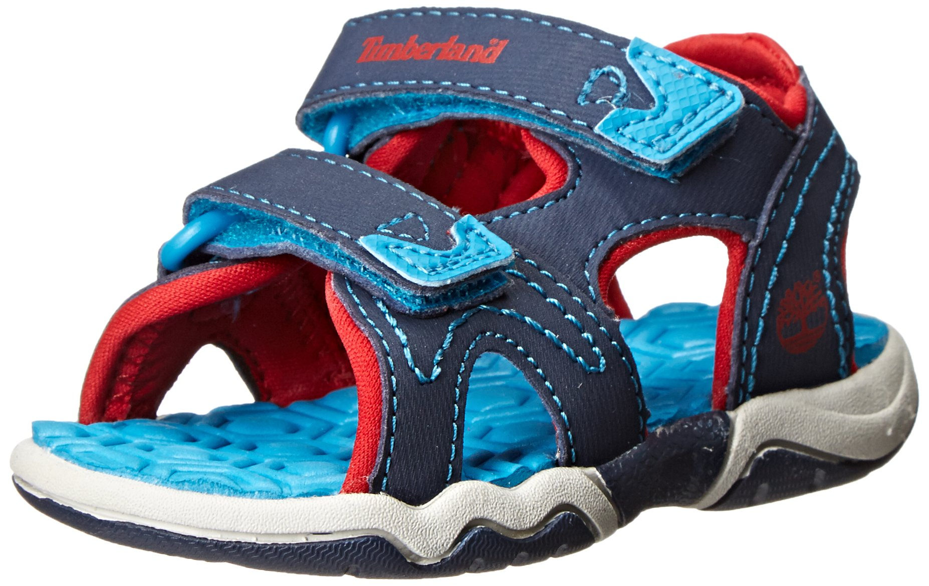 Timberland Adventure Seeker Two-Strap Sandal (Toddler/Little Kid),Navy/Blue/Red,5 M US Toddler by Timberland