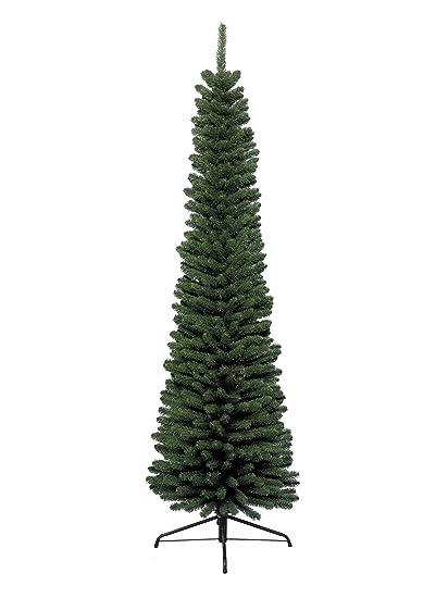 Albero Di Natale Stretto.Kaemingk Albero Di Natale Di 210 Cm Colore Verde