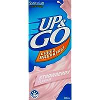 UP&GO Strawberry Flavour Liquid Breakfast Drink, 12 x 350 Milliliters