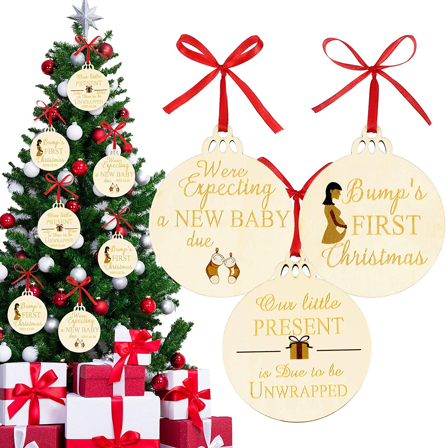 Pregnancy ornament 2020  expecting baby ornament ultrasound  expecting christmas ornament  Christmas pregnancy announcement ornament