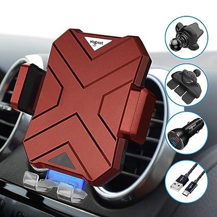 Amazon.com: VOLPORT - Cargador inalámbrico para coche: Cell ...