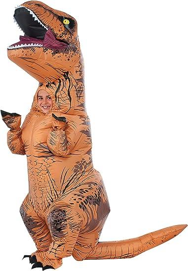 Kids Child Inflatable T Rex Dinosaur Costume Girl Boy Ride Dino Inflated Garment