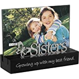 Malden Sisters Desktop Expressions Frame With Silver Word Attachment, 4 By 6 Inch
