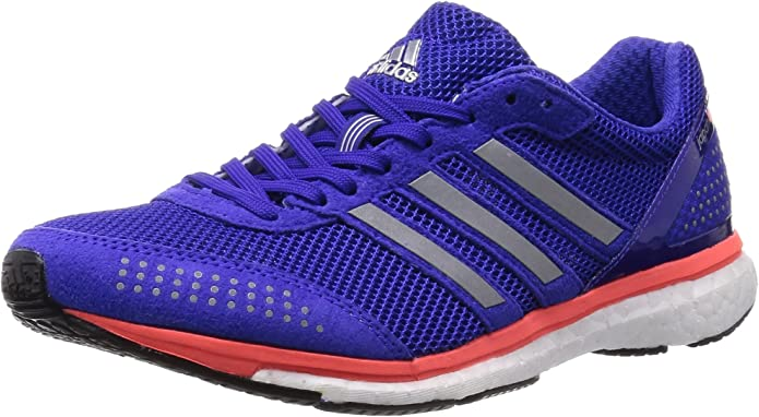 adidas Zapatillas Adizero Adios Boost 2.0 Azul EU 44 (UK 9.5): Amazon.es: Zapatos y complementos