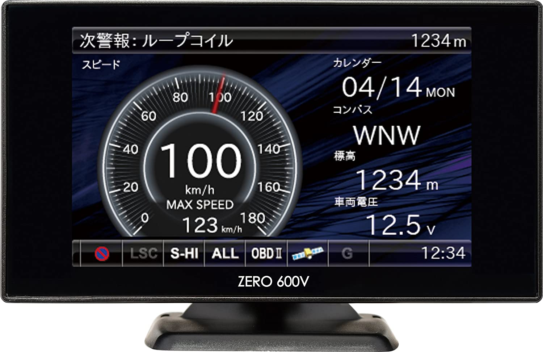 コムテック レーダー探知機 3.2インチ液晶Gセンサー搭載 ZERO 600V (リモコン付) B00ZC1QZVU