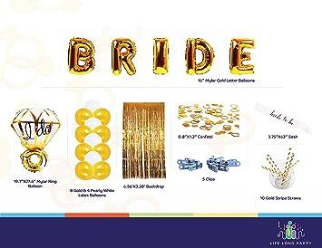 bachelorette party decorations bridal shower supplies kit elegant bride foil balloons graceful ring