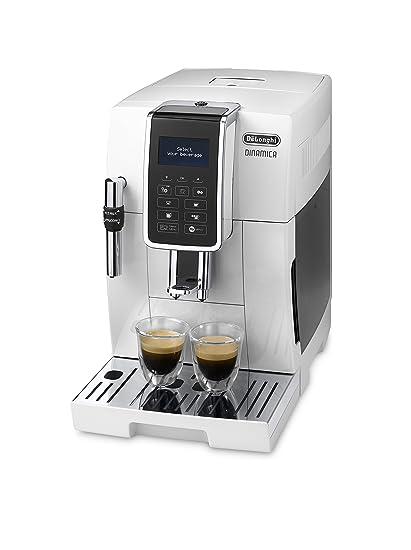 Delonghi Dinamica Ecam350.35.WH - Cafetera superautomática, 1450w, 15