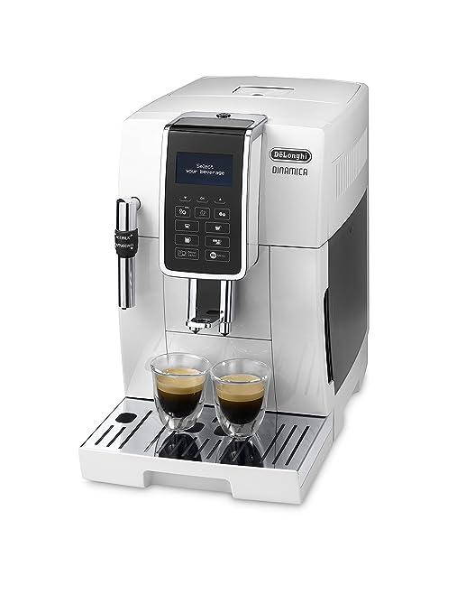 Delonghi Dinamica Ecam350.35.WH - Cafetera superautomática, 1450w, 15 bares presión, panel control intuitivo táctil lcd, personalización bebida, ...