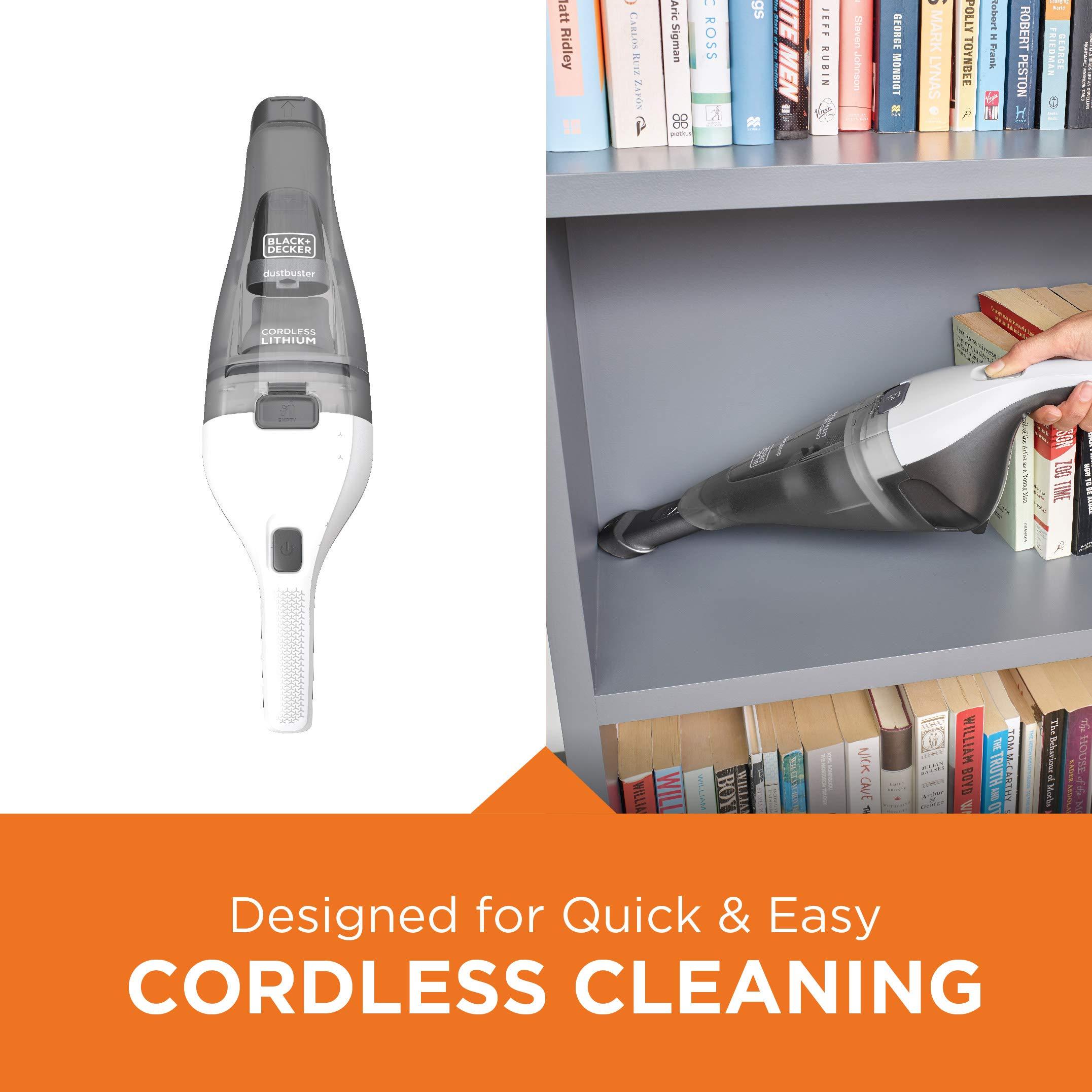 BLACK+DECKER dustbuster Handheld Vacuum, Cordless, White (HNVC215B10) by BLACK+DECKER