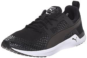 PUMA Women's Pulse XT 3-D New Running Sneaker, Black/White, 5.5 B US