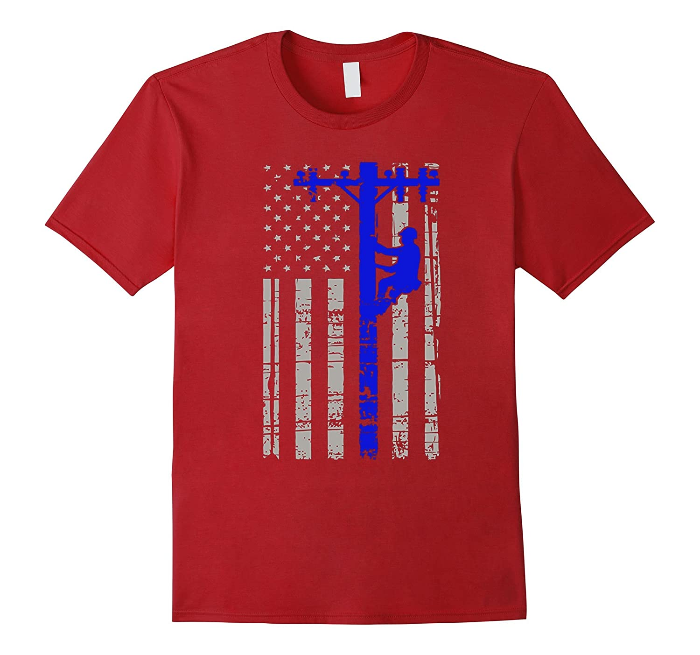 Tshirt  American Flag Lineman  2016