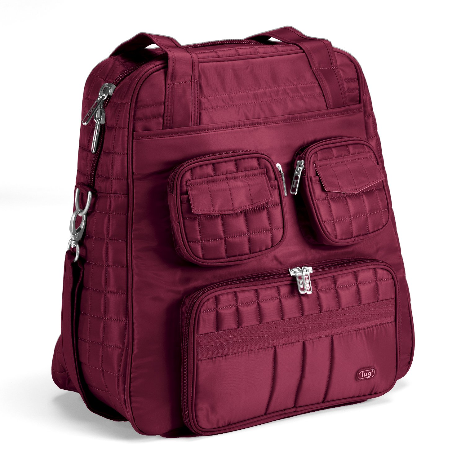 Lug Puddle Jumper Overnight Gym Bag, Cranberry Red, One Size