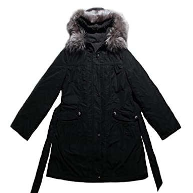 56ee657c208e FEISSI Women s 3 4 Length Parka with Sheared Rabbit Fur Liner Mink ...