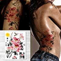 Supperb Temporary Tattoos - Flowers Under The Full Moon