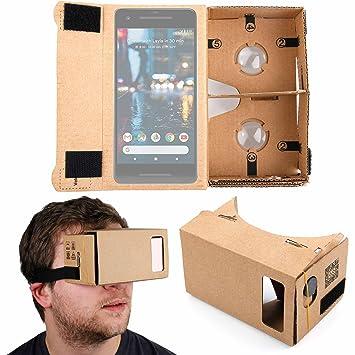 Duragadget google cardboard virtual reality headset amazon duragadget google cardboard virtual reality headset compatible with the google pixel pixel 2 publicscrutiny Image collections