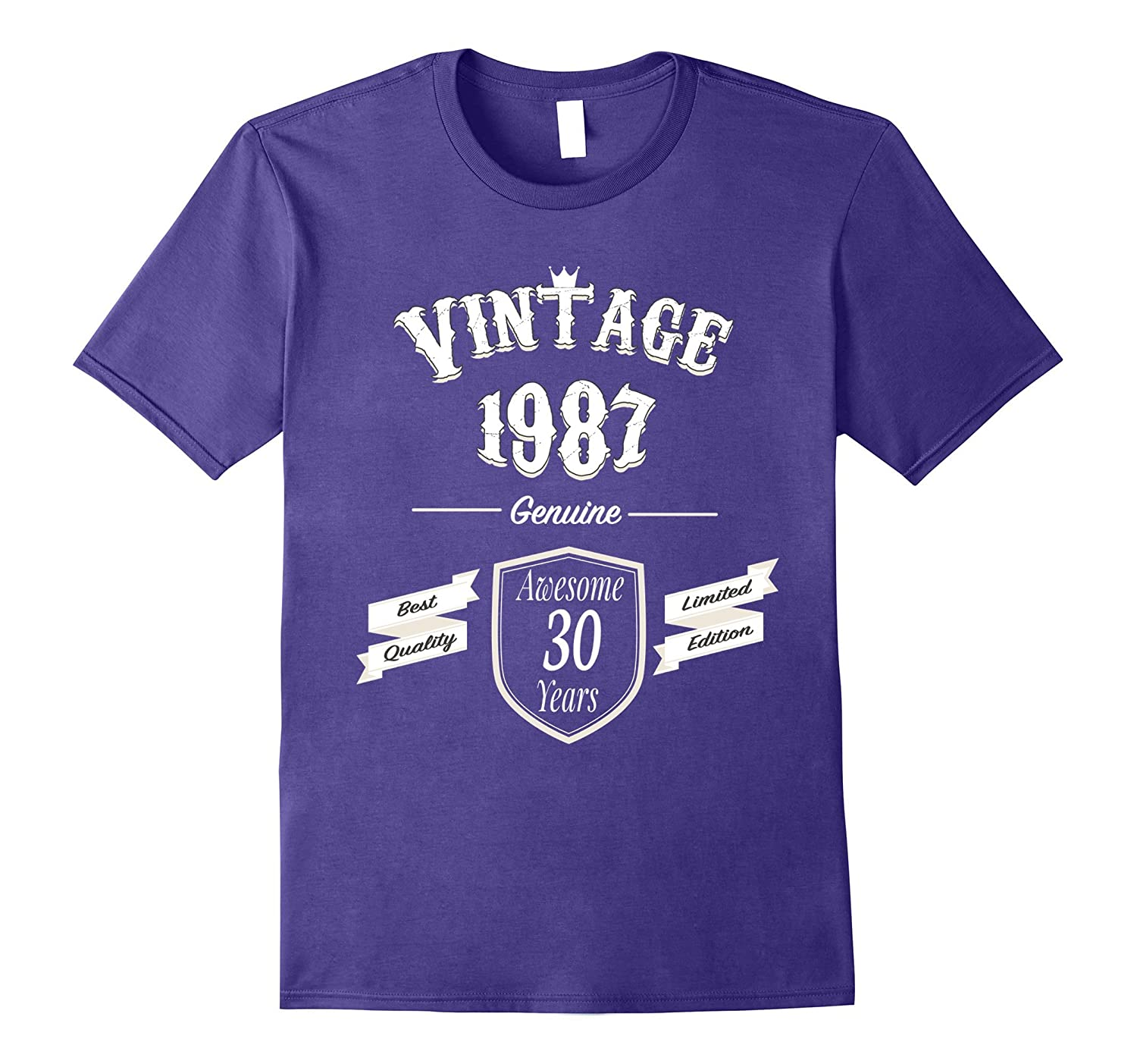 30th Birthday Gift for Men and Women Tshirt, Vintage 1987-4LVS