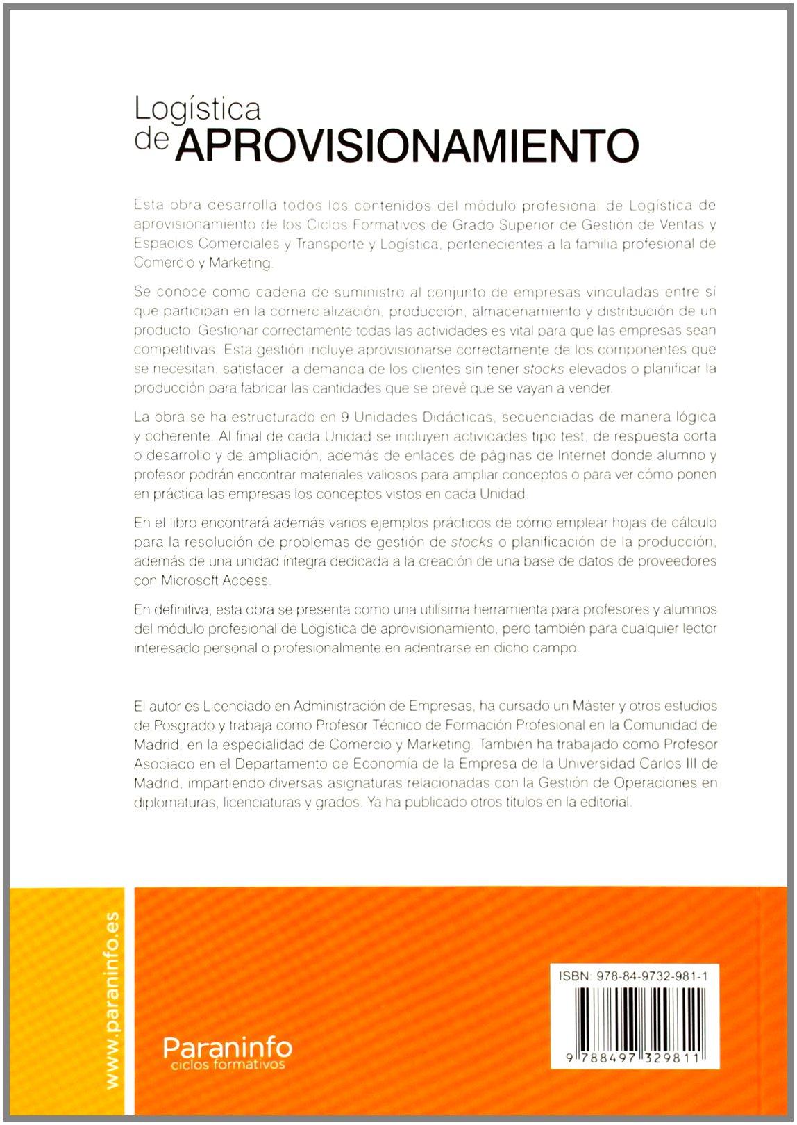 Logística de aprovisionamiento (Comercio Y Marketing): Amazon.es ...