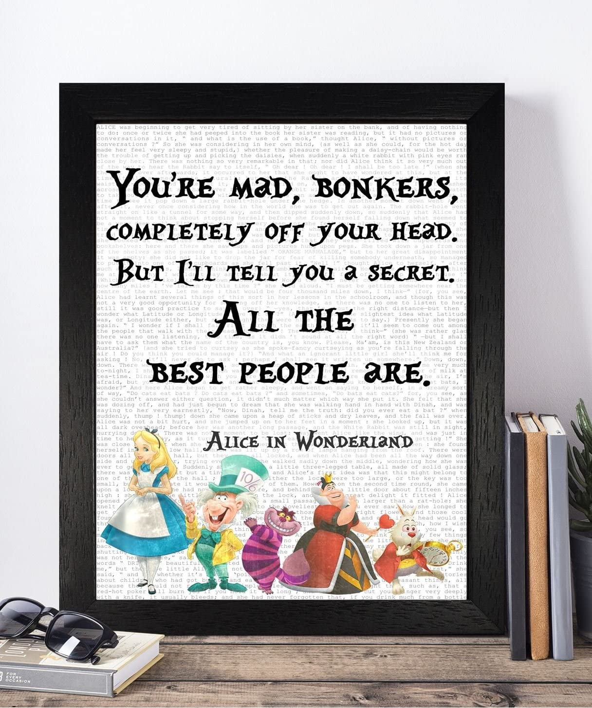 Alice in wonderland prints nursery,dictionary inspirational wall quotes,time art