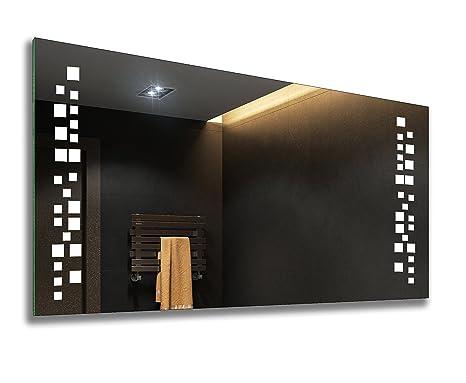 Badspiegel mit LED Beleuchtung - Nach Maß - Beleuchtet Badezimmerspiegel  Kalt Weiß A++ L38 | Wandspiegel Lichtspiegel