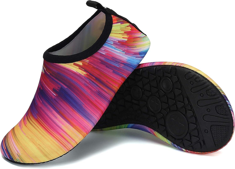 UBFEN Zapatos de Agua Beb/é Ni/ño Ni/ña Nataci/ón Zapatos Descalzos Secado R/ápido Respirable Zapatos de Playa de Deportes Acu/áticos