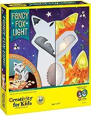 Creativity for Kids Fancy Fox Light Craft Kit - Makes 1 Light-Up Fox, Room Decor for Kids