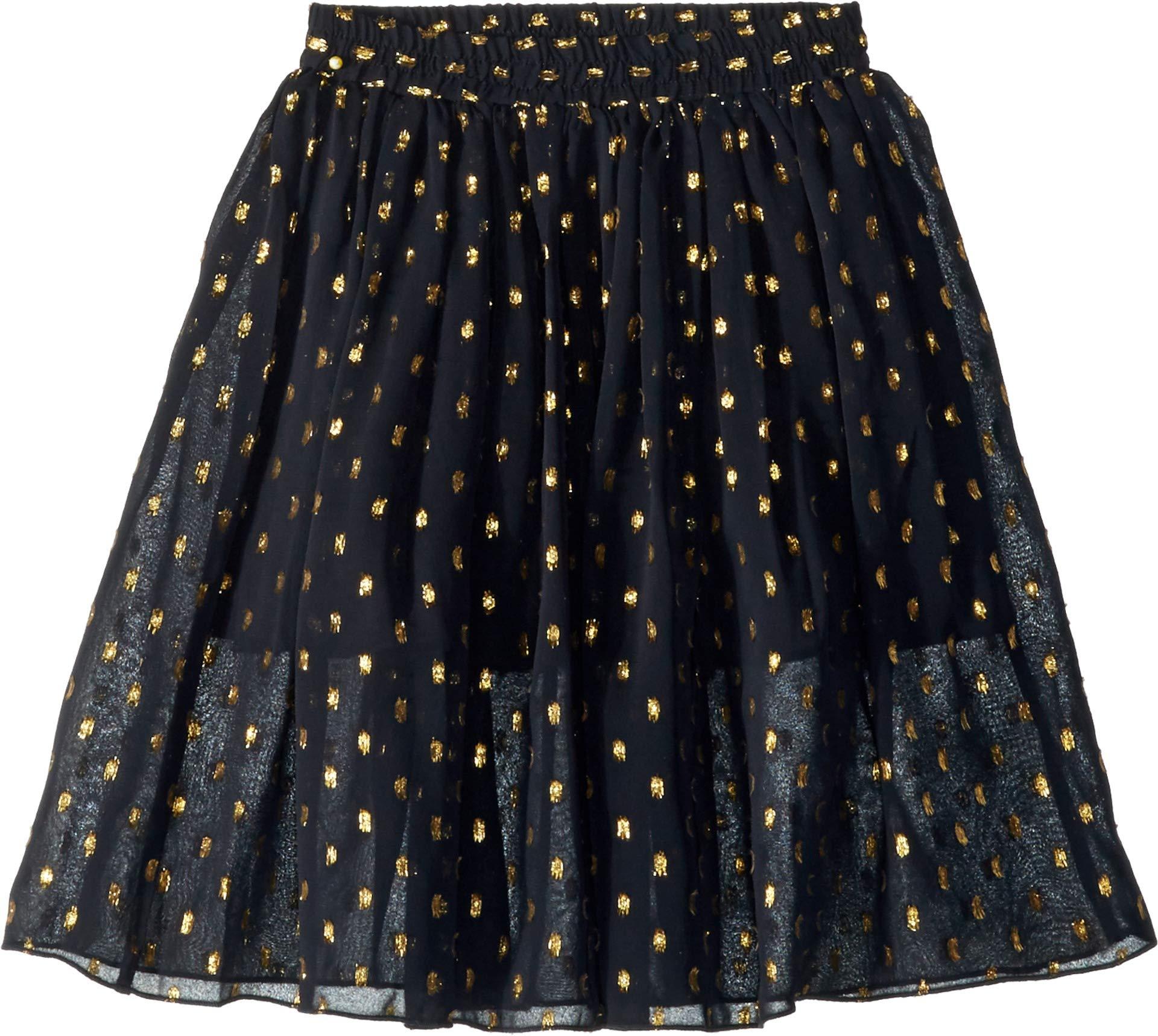 Stella McCartney Kids Baby Girl's Amalie Gold Polka Dot Tulle Overlay Skirt (Toddler/Little Kids/Big Kids) Black 4T