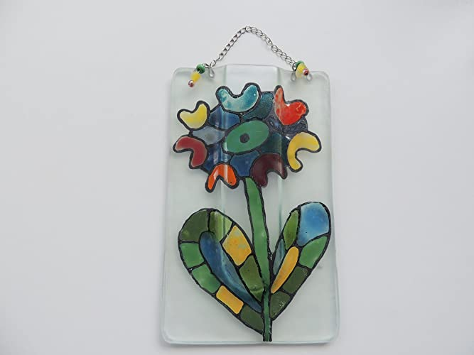Amazon Hand Painted 625x385 Fused Glass Pocket Vasewall