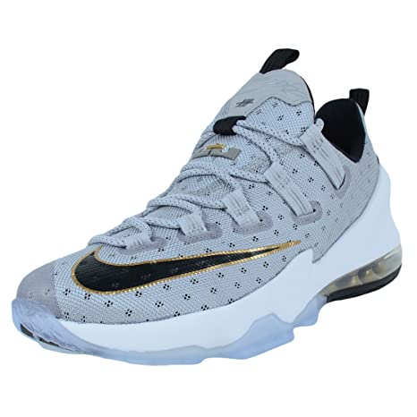 Zapatos Nike Lebron Xiii baja de baloncesto Cool Grey Metallic oro ...