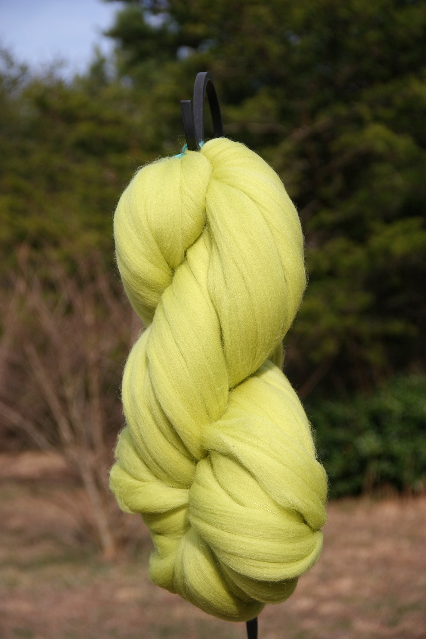 Celedon Green Wool Top Roving Fiber Spinning, Felting Crafts USA (8 lb) by Shep's Wool
