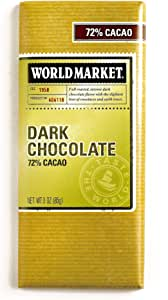 72% Dark Chocolate Bar 3 oz Each (4 Items Per Order)