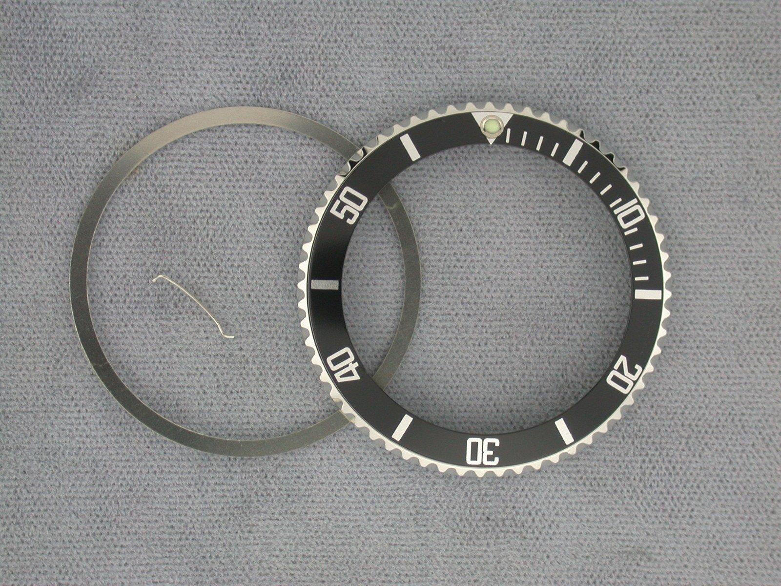 Bezel & Insert for Rolex No Date Submariner # 14060 Black