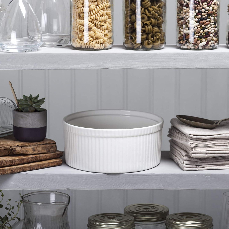 WM Bartleet /& Sons Plato para souffl/é 14 cm color blanco porcelana Blanco