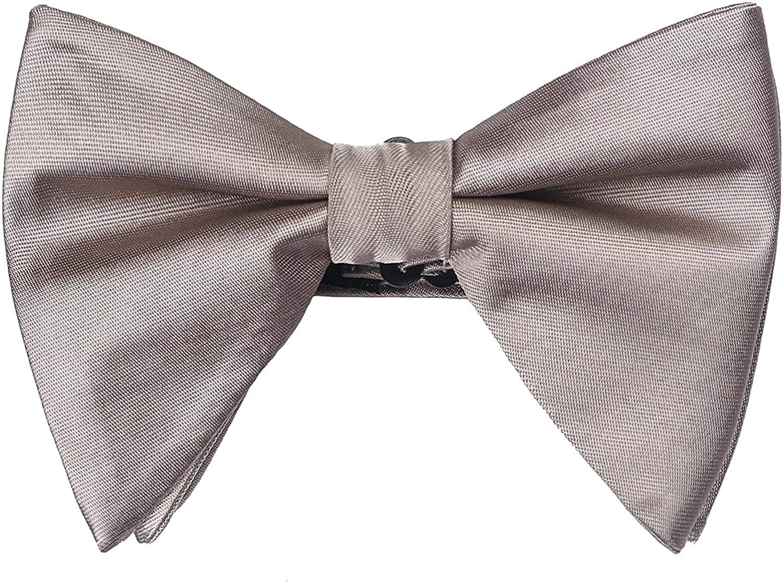 Satin Silk Oversized Bow Tie Solid Color Formal Tuxedo Big Bowtie