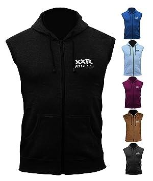 Sudadera con capucha XXR sin mangas con capucha para gimnasio, correr, hacer fitness, casual, ...