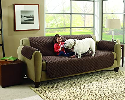 Granth Enterprise Waterproof Three Seater Pet Dog Couch Sofa Mat Sofa Slipcovers Cheap for Living Room Universal Couch Furniture Sofa Covers, 167 * 110 cm, Random