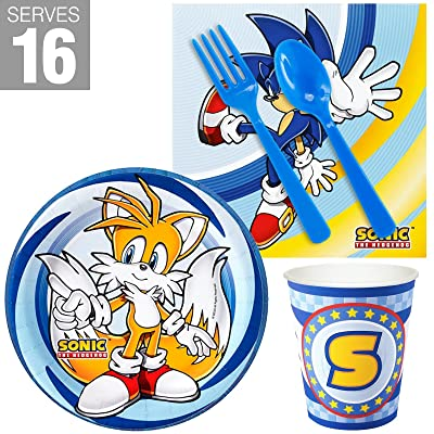 Birthday Express Sonic the Hedgehog Snack Party Pack for 16: Toys & Games