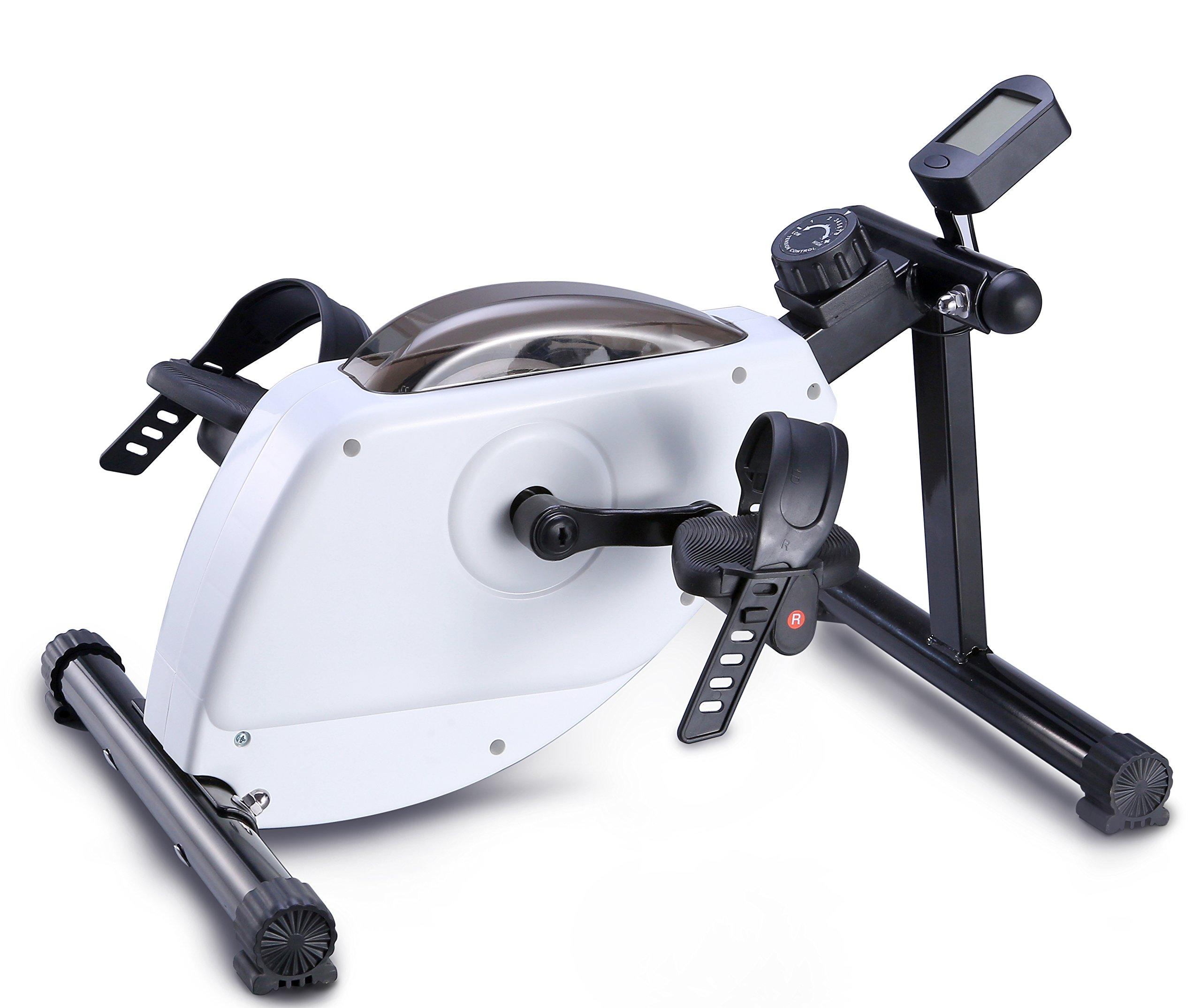 """EXEFIT Magnetic Exercise Bike Stationary Pedal Exerciser Smooth and Quiet with 3"""" LCD Monitor and Anti-slip Mat by EXEFIT"""