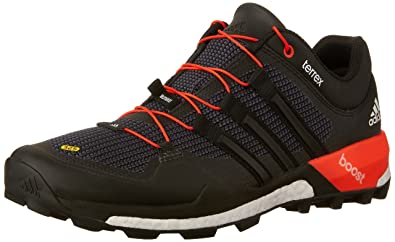 dda8131ee3fc7a adidas outdoor Terrex Boost Trail Running Shoe - Men s Black White Solar  Red 11.5