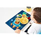 "UNCLE WU 60 Count Table Topper Disposable Stick-on Placemats in Reusable Package, 12"" x 18"" inch BPA Free Plastic Keep Dirt Away"