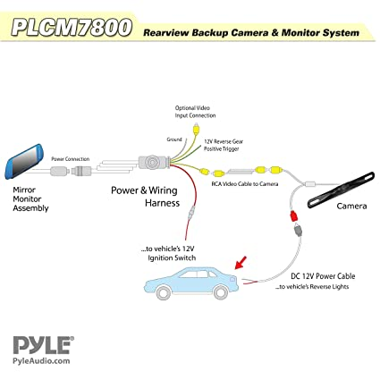 812QUg8EunL._SX425_ amazon com pyle plcm7800 vehicle backup camera & mirror monitor pyle backup camera wiring diagram at gsmportal.co