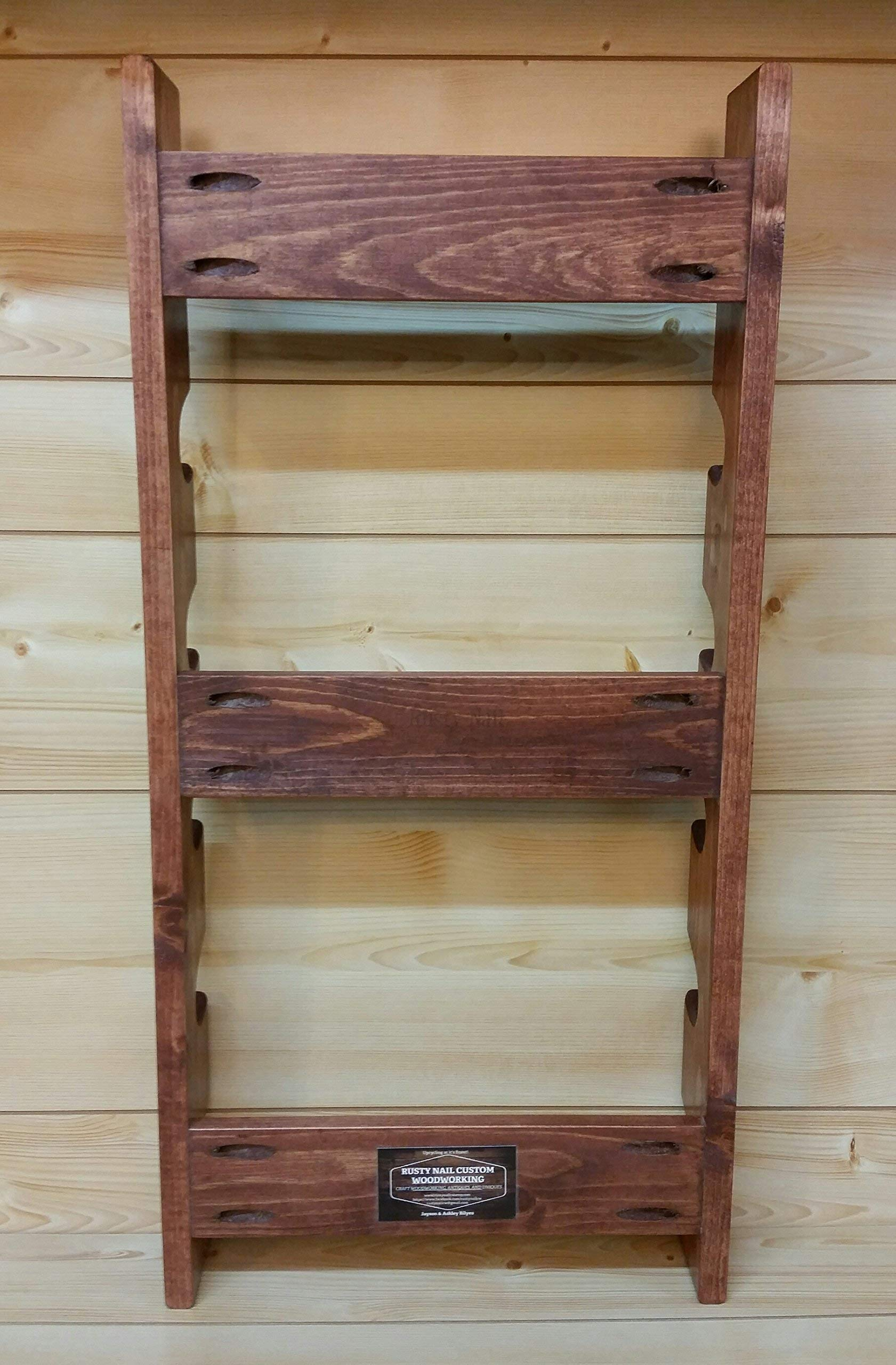 Rolling Pin Rack with Six Slots - Multiple Rolling Pin Rack - Rolling Pin Holder - Rolling Pin Storage - Rolling Pin Rack for 6 by Rusty Nail Custom Woodworking (Image #7)