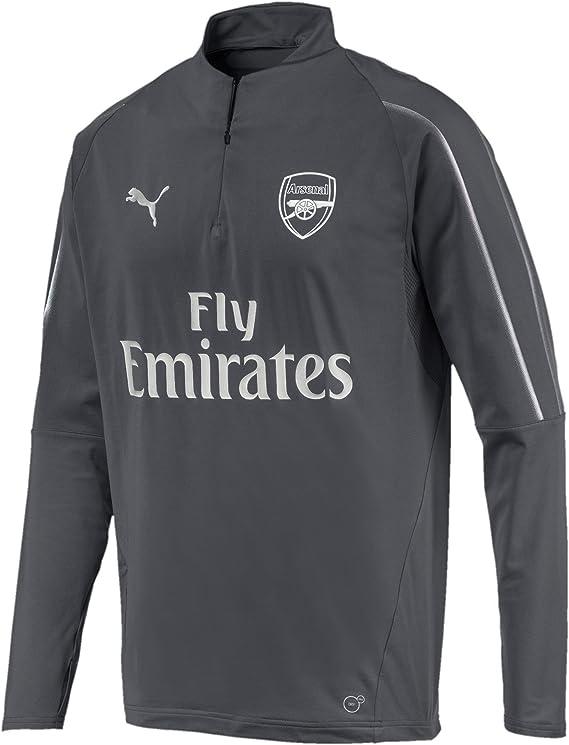 PUMA Arsenal FC 1/4 Zip Top with EPL Sponsor Logo Camiseta, Hombre ...