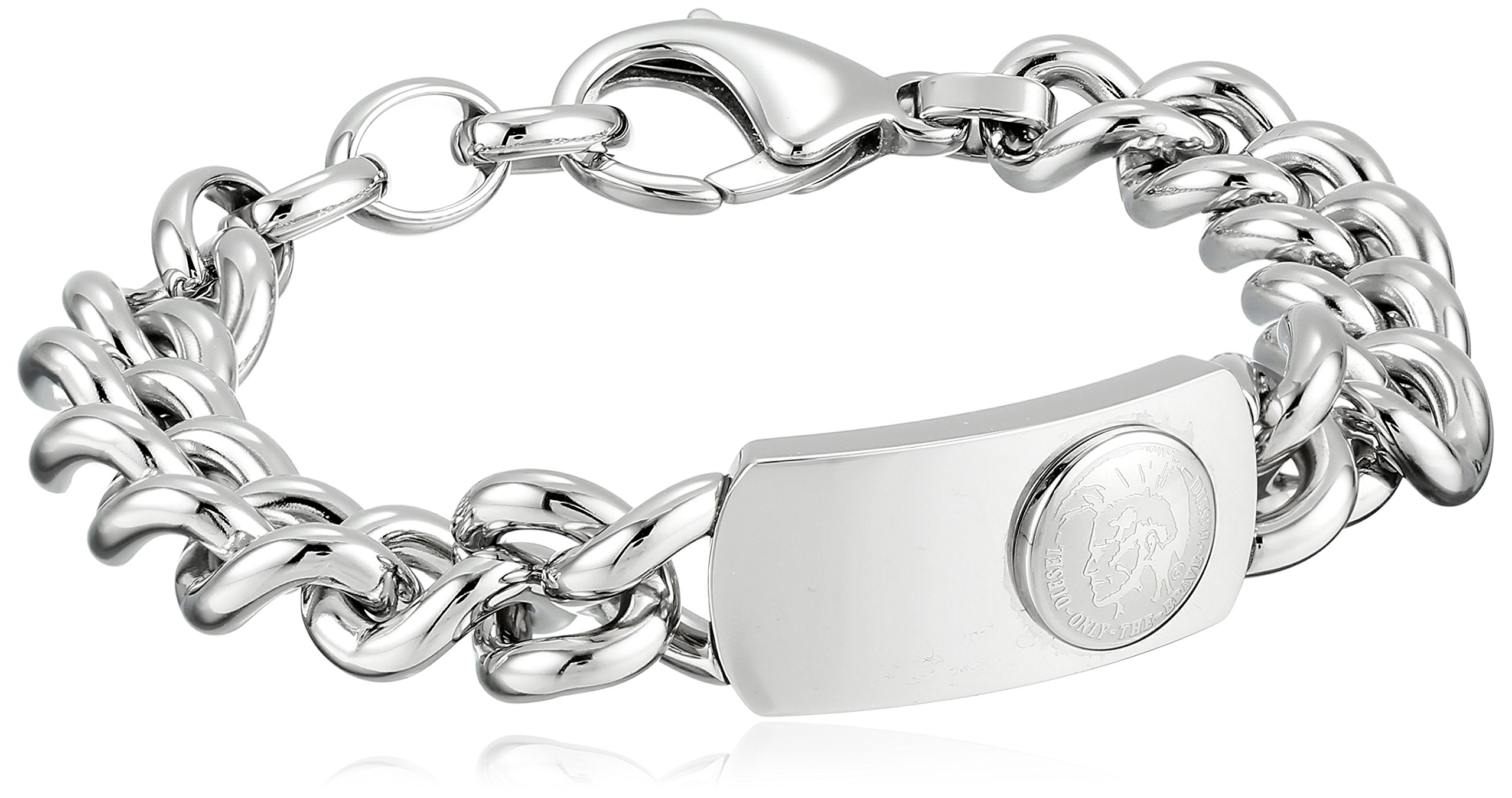 Diesel Men's Logo Link Bracelet, 7.5''